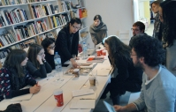 Round Table discussion concluding a two-day workshop with participants of De Appel Curatorial Programme, Amsterdam