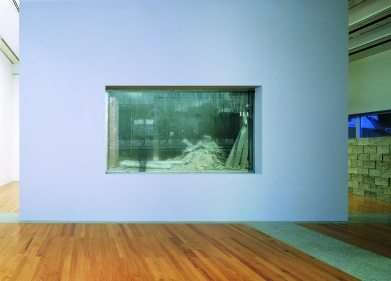 Sabine Hornig The Destroyed Room, 2005 Wall, glass, Duraclear 144 x 251 cm; Ed. 2/3 Burger Collection, Inv. Nr. 1540 © Sabine Hornig and VG Bild-Kunst, Bonn 2009
