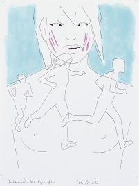 Douglas Kolk Suicide Girl, 1996/1997 Series of 24 drawings, mixed media 30 × 23 cm each