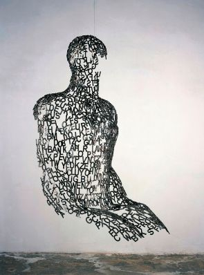 Jaume Plensa Tel Aviv Man IX, 2006 Steel, suspension wire 190 × 130 × 95 cm
