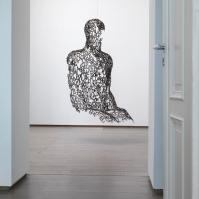 Jaume Plensa — Tel Aviv Man IX, 2006 ; Steel ; 190 × 130 × 95 cm ; [ Inv. no. 1555, purchased 2006 ]