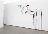 Jaishri Abichandani Whip Drawing for Palestine, 2009 Leather whips, Swarovski crystals, wire, acrylic paint, nails 297.2 × 327.7 cm