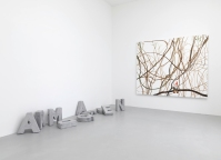 Fiona Banner Concrete Poetry, 2002 Polystyrene and plaster Dimensions variable.